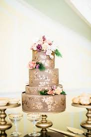 handpainted gold and chocolate cake elizabeth anne designs the