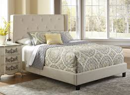 Roma Tufted Wingback Headboard Taupe Fullqueen by Pri Furniture Humble Abode