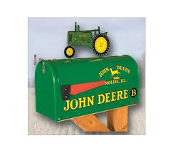 amazon com john deere model b rural style mailbox with tractor