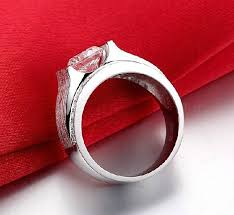 aliexpress buy 2ct brilliant simulate diamond men aliexpress buy wholesale luxury ring 1 carat simulate