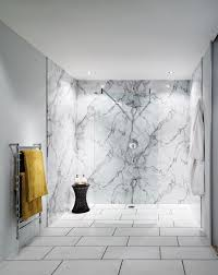 interior white calacatta marble texture with grey stretch design