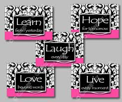 pink and black home decor pink black and white wall decor my web value