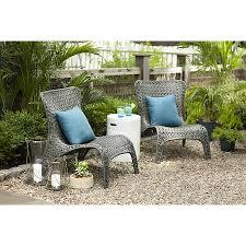 Wicker Dining Patio Furniture Shop Garden Treasures Tucker Bend Gray Woven Seat Steel Patio