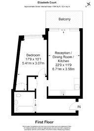 Floor Plan Of Westminster Abbey 1 Bed Flat For Sale In Rosamond House Westminster Quarter Monck