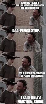 Memes Walking Dead - the walking dead 23 of the funniest rick carl dad jokes smosh
