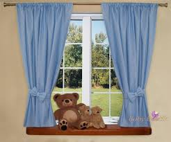 Nursery Blackout Curtains Uk by Nursery Curtains With Decorative Bows For Baby U0027s Room 62 X 62inch