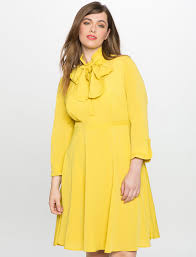 bow neck fit and flare shirt dress women u0027s plus size dresses