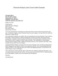entry level financial analyst cover letter business analyst cover