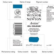 how to read the label on a winsor u0026 newton colour