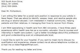 dcf social worker cover letter