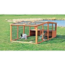 How To Build A Rabbit Hutch And Run Trixie Extra Large Rabbit Hutch With Attic Free Shipping Today