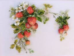 silk ribbon embroidery strawberries 3d picture silk ribbon embroidery by