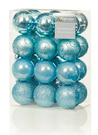 Blue And White Christmas Decorations Uk by 24 X 60mm Shatterproof White Baubles Luxury Premier Christmas Tree