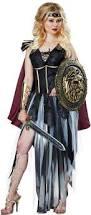 Gladiator Halloween Costume Women Glamorous Gladiator Costume Roman Warrior Dress Cape