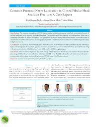 Fibular Avulsion Common Peroneal Nerve Laceration In Closed Fibular Head Avulsion