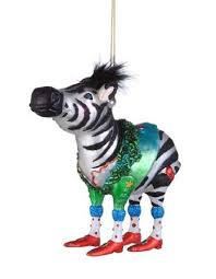 zebra print ornaments