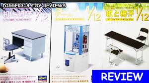 1 12th scale office desk fold table and chairs u0026 crane game model