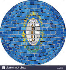 Kentucky Flags Ball With Kentucky Flag Illustration Kentucky Flag Sphere In