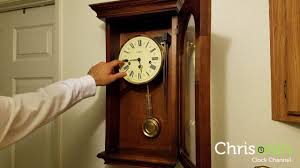 Howard Miller Chiming Mantel Clock Howard Miller Wall Clock Westminster Chimes Youtube