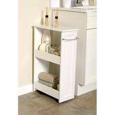 Bathroom Storage Walmart 39 97 White Wood Wall Cabinet With Open Storage And Towel Bar