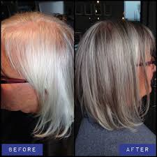 silver hair with low lights curly hair styles for short hair low lights to grow out gray hair