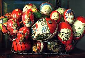paper mache easter eggs a pictorial history of vintage antique paper mache easter flickr