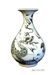 Vase Drawing Chinese Off White Ceramic Dragon Drawing Vase Cs707 13 Youtube