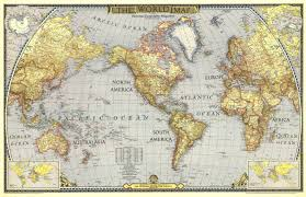World War I Alliances Map by 1943 World Map Historical Maps