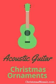 acoustic guitar ornaments mosaic