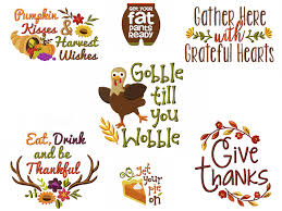 gobble til you wobble quotes for thanksgiving embroidery