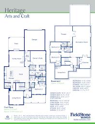 fieldstone homes floor plans plan heritage utah home builder new