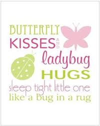 the words want a different font butterfly ladybug hug