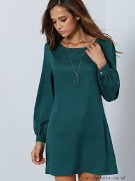 1khpsu army green long sleeve casual dress casual dresses