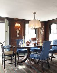 blue dining room chairs a colorful historic home chocolate walls cozy and room