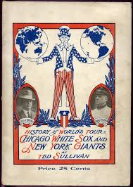Chicago White Sox Map by 1913 14 World Tour