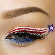 happy july 4th 4th of july inspired patriotic eye makeup look