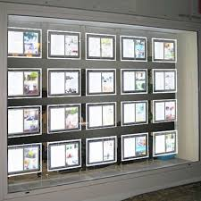real estate office window led acrylic poster frame display light