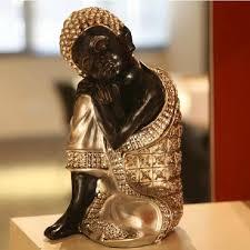 vintage handmade thailand sleeping buddha art craft ornaments