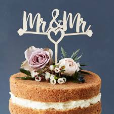 mr and mr cake topper mr and mr heart wooden wedding cake topper by