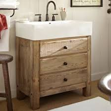 bathrooms design small powder room wallpaper console sink