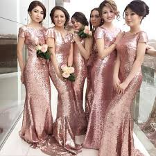 best bridesmaid dresses amazing glittering pink sequins bridesmaids dresses 2017