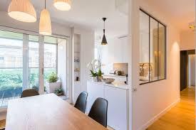 cloison vitree cuisine cloison amovible verrière coulissante côté maison