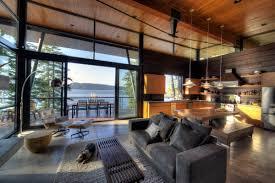 Contemporary Cabin Coeur D U0027alene Residence Uptic Studios