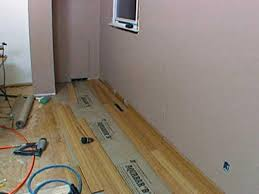 Installing Laminate Flooring Underlayment How To Install Bamboo Flooring Hgtv
