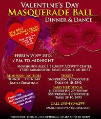 valentine raffle tickets valentine u0027s day masquerade ball dinner u0026 dance in monsignor alex j