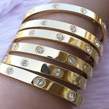 steel love bracelet images Steel love bracelet stones glam kylie jenner bracelet jpg