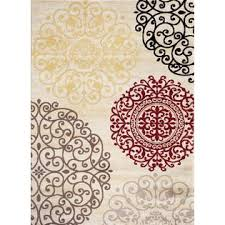 Modern Floral Area Rugs World Rug Gallery Toscana Contemporary Modern Floral Indoor Area Rug