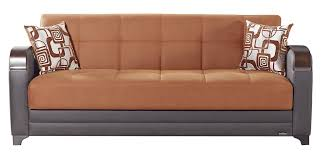 King Koil Sofa by Etro Vintage Terra Cotta Fabric Sofa Bed By Mobista