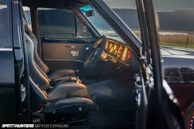 larry minor sand jeep perfection in a black on black datsun wagon speedhunters