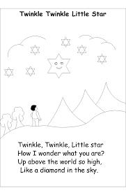 4 7 nursery rhyme coloring pages twinkle twinkle star 17435